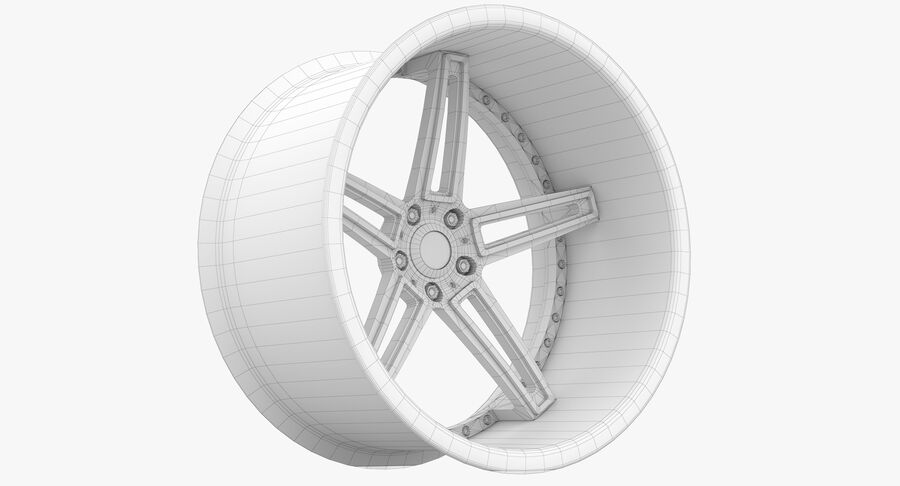 Rims Pack - Asanti & HRE & Vossen & Vorsteiner royalty-free 3d model - Preview no. 32