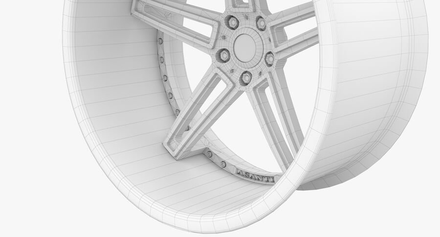 Rims Pack - Asanti & HRE & Vossen & Vorsteiner royalty-free 3d model - Preview no. 34
