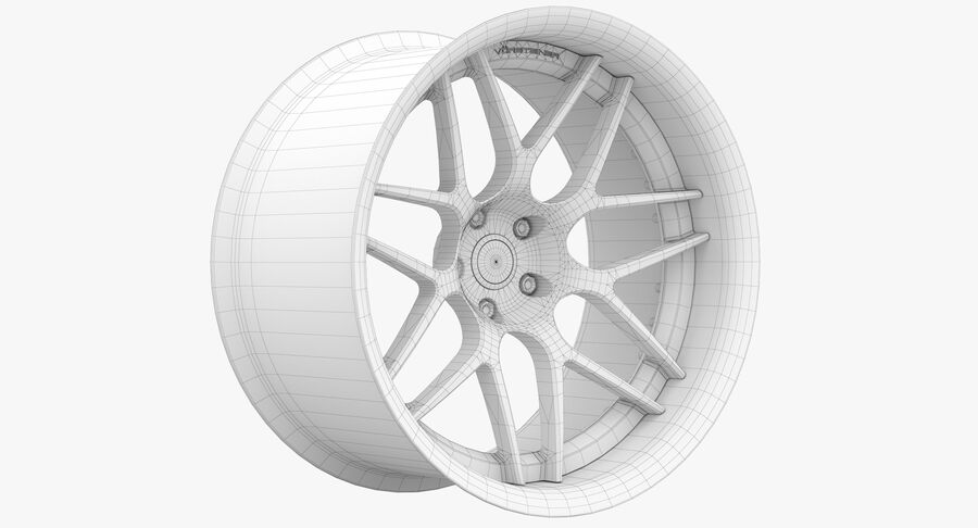 Rims Pack - Asanti & HRE & Vossen & Vorsteiner royalty-free 3d model - Preview no. 28