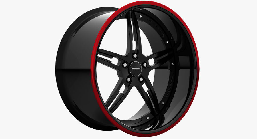 Rims Pack - Asanti & HRE & Vossen & Vorsteiner royalty-free 3d model - Preview no. 6
