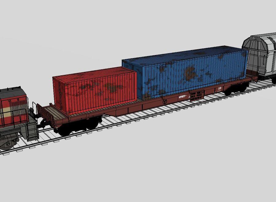 Treno merci royalty-free 3d model - Preview no. 11