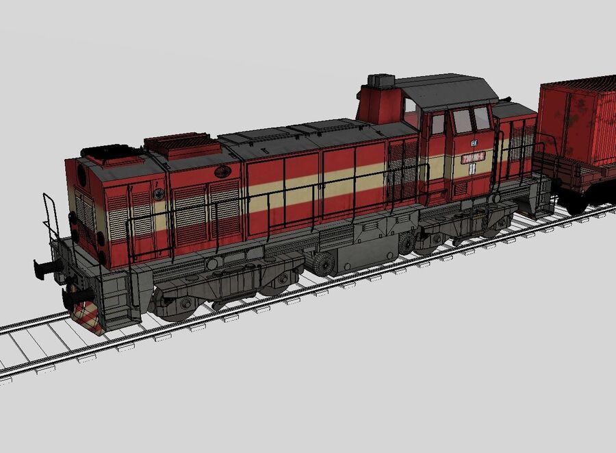 Treno merci royalty-free 3d model - Preview no. 10