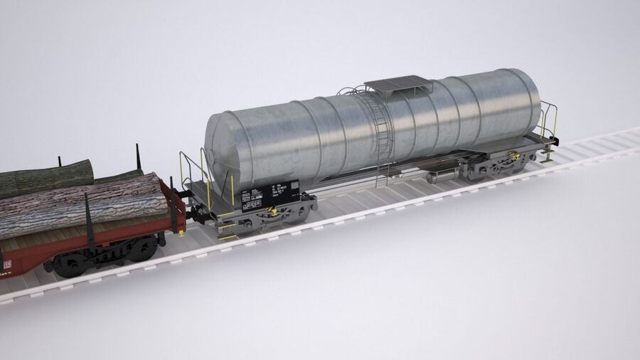Treno merci royalty-free 3d model - Preview no. 9