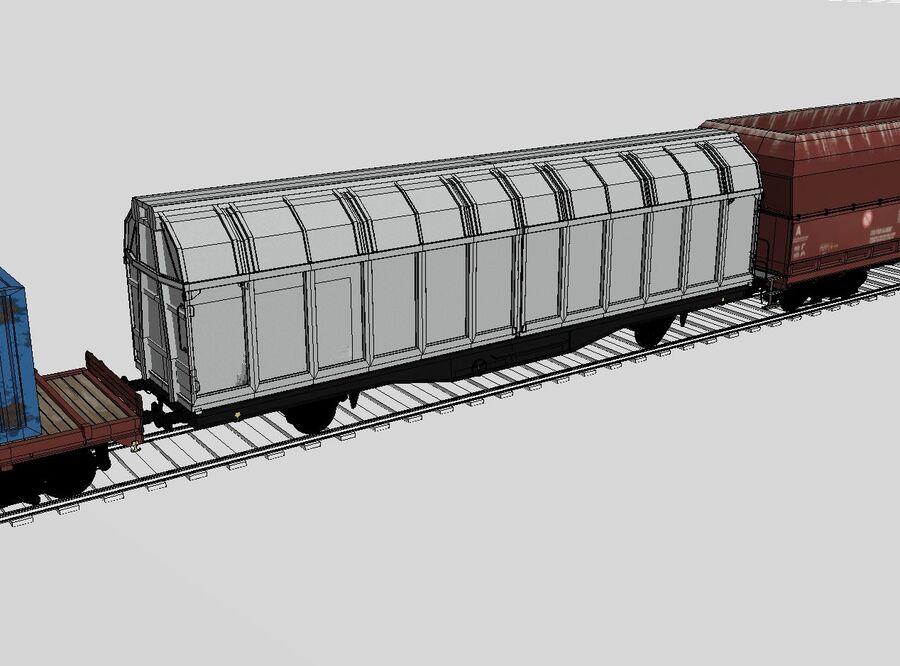 Treno merci royalty-free 3d model - Preview no. 12