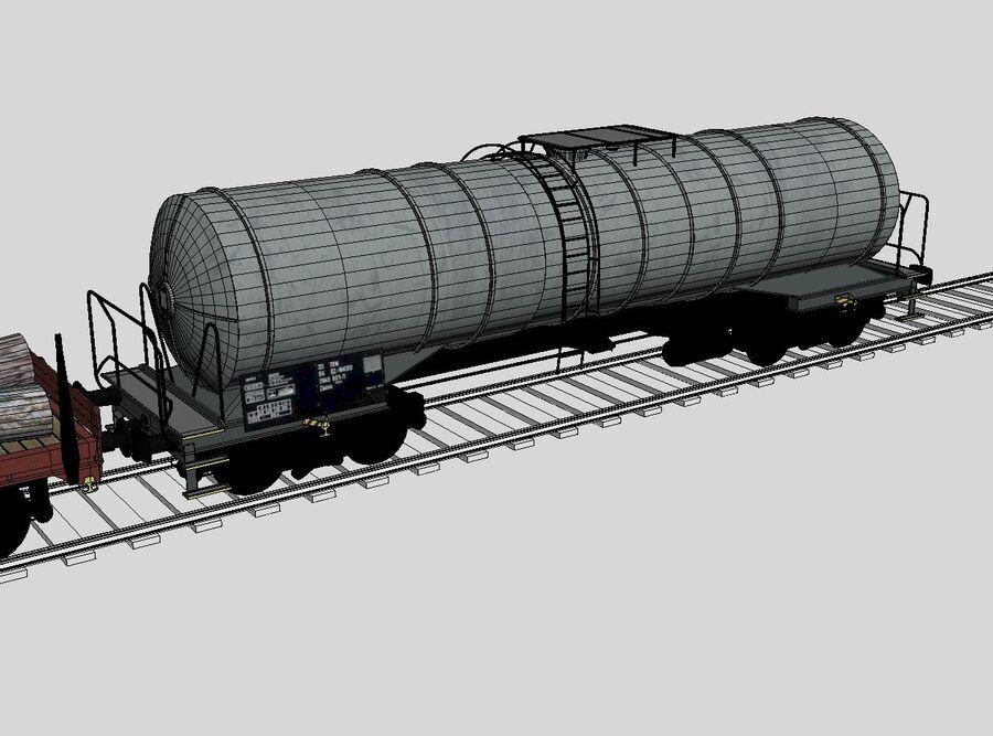 Treno merci royalty-free 3d model - Preview no. 15