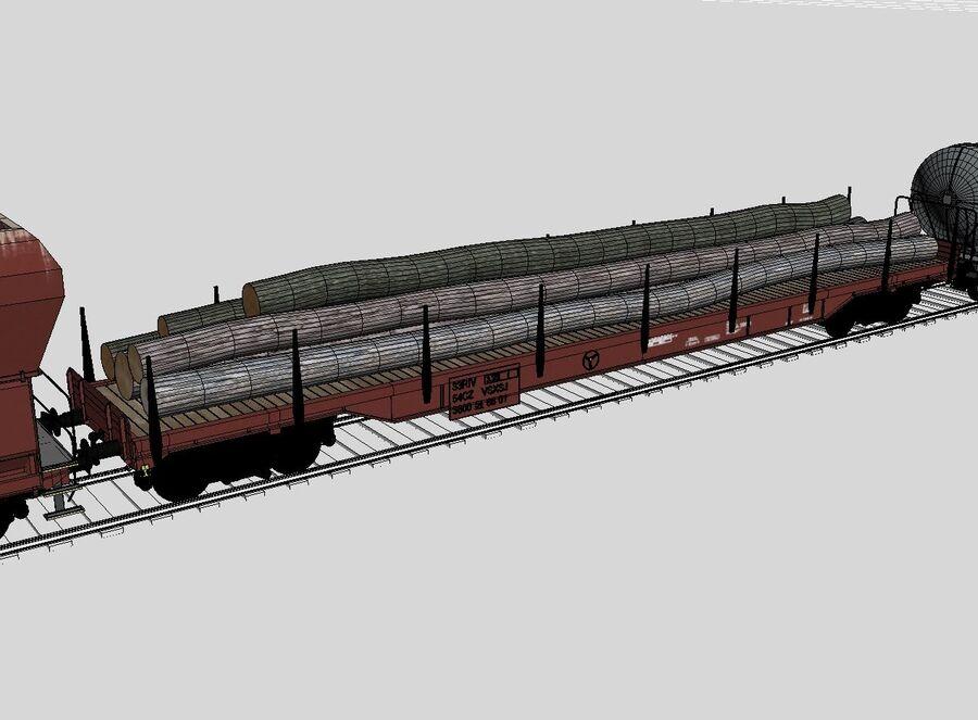 Treno merci royalty-free 3d model - Preview no. 14