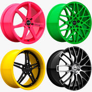 Rims Pack - Asanti & Rays & Rotiform & Vossen 3d model
