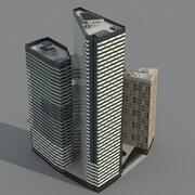 IQ Quarter - Skyscrapers 3d model