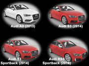 Collection of Audi A3 cars 3d model