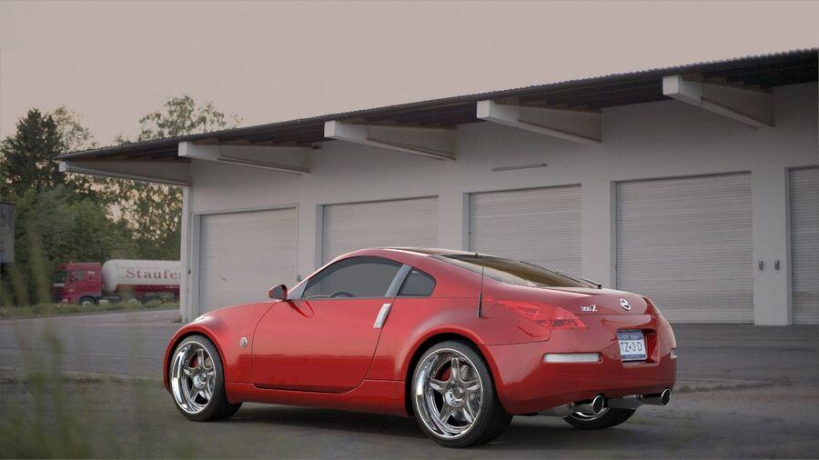 350Z royalty-free 3d model - Preview no. 4