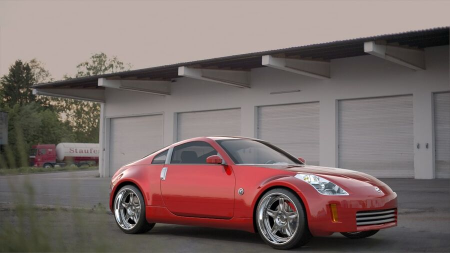 350Z royalty-free 3d model - Preview no. 2