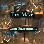 游戏环境迷宫 3d model