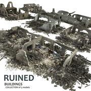 荒廃した建物コレクション4 3d model