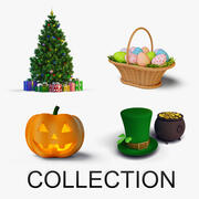 Holidays Collection 3d model