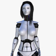 Female Robot V2 [Rigged] 3d model