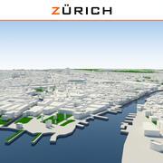 Stadt Zürich abgeschlossen 3d model
