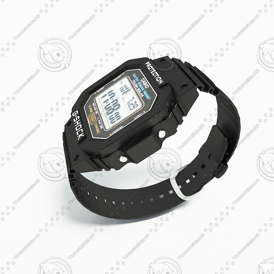 G-Shock royalty-free 3d model - Preview no. 4
