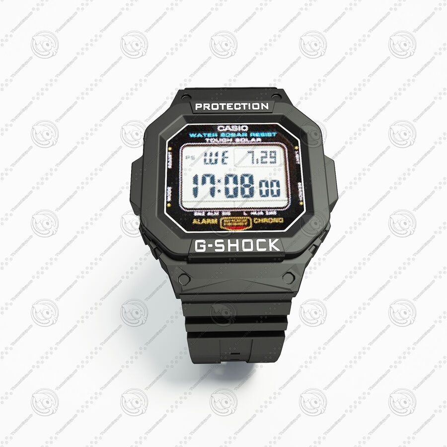 G-Shock royalty-free 3d model - Preview no. 3
