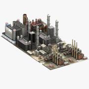 Завод 3d model