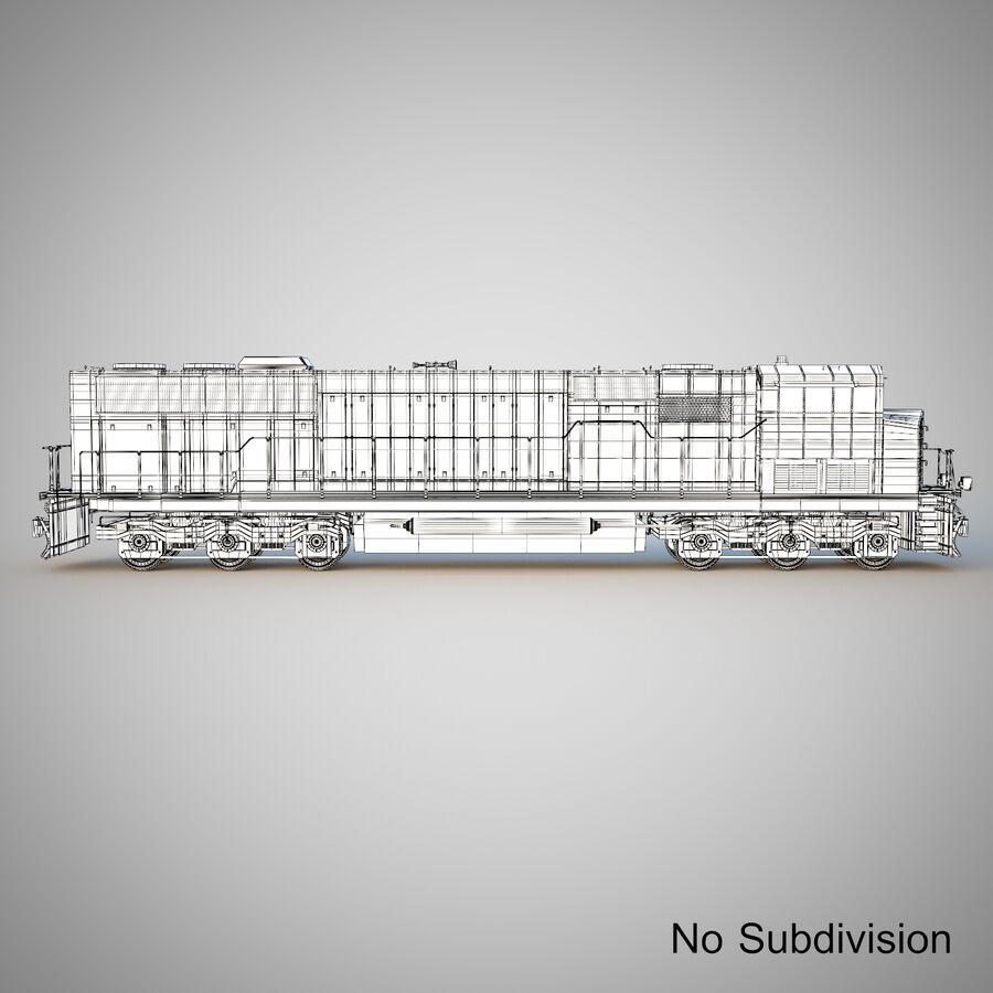 貨物列車エンジン royalty-free 3d model - Preview no. 13