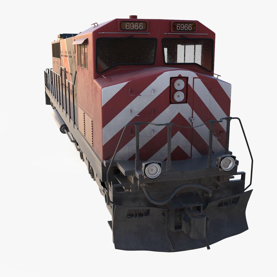 貨物列車エンジン royalty-free 3d model - Preview no. 1