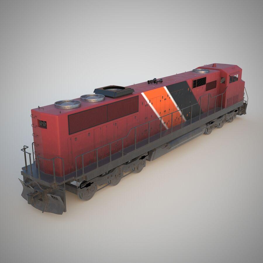 貨物列車エンジン royalty-free 3d model - Preview no. 4