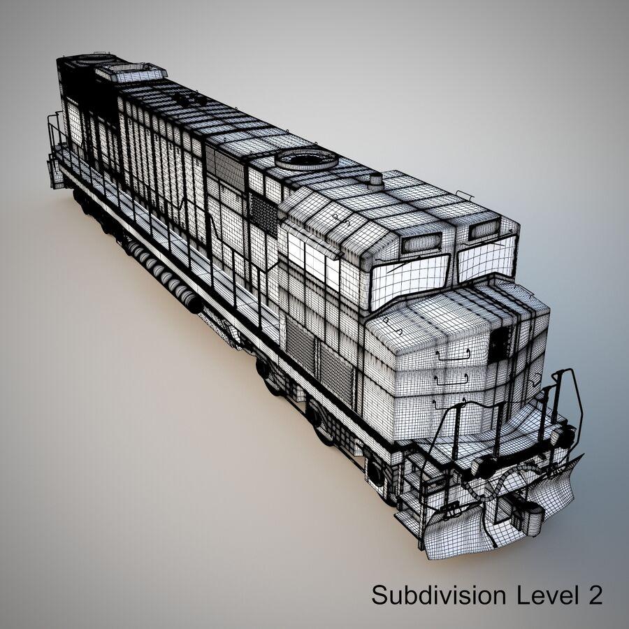 貨物列車エンジン royalty-free 3d model - Preview no. 15