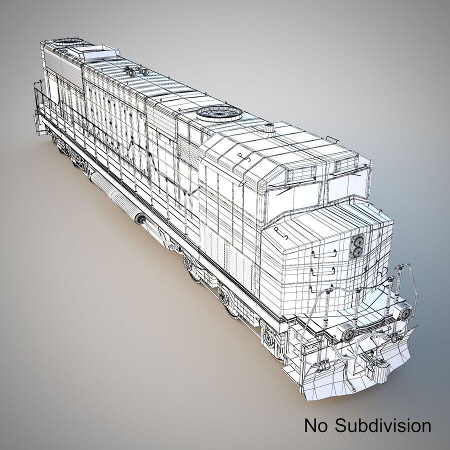 貨物列車エンジン royalty-free 3d model - Preview no. 9