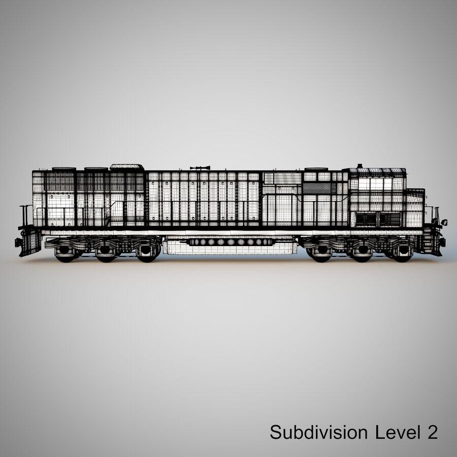 貨物列車エンジン royalty-free 3d model - Preview no. 19