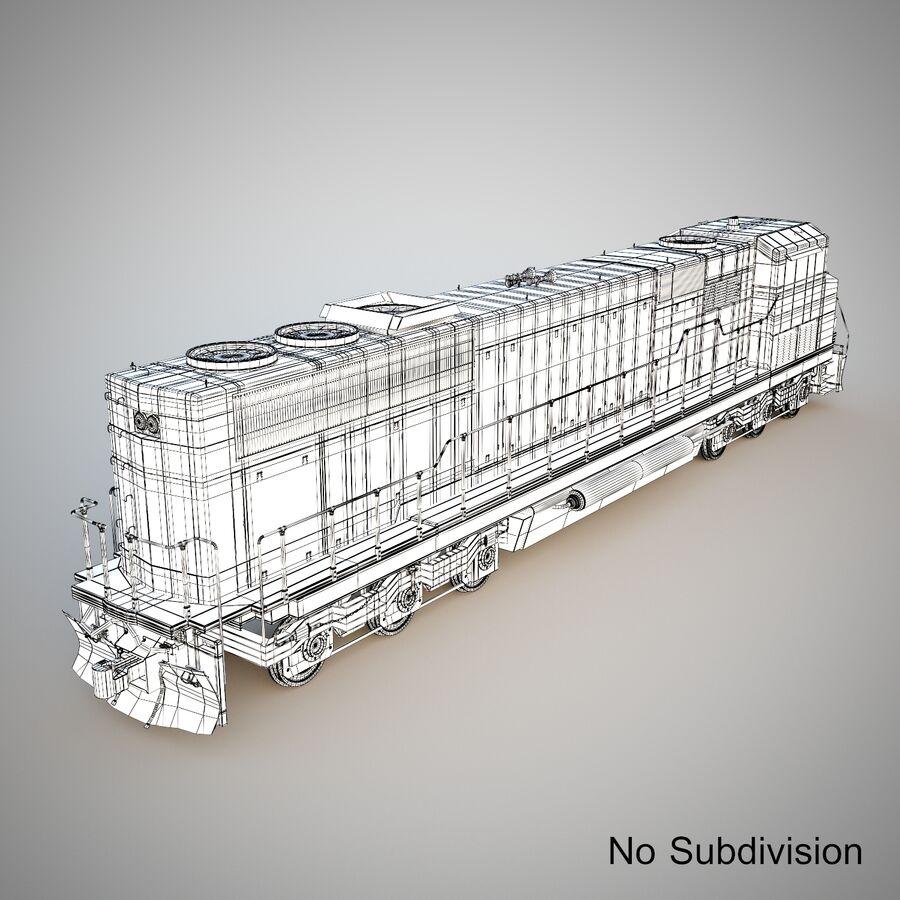 貨物列車エンジン royalty-free 3d model - Preview no. 10