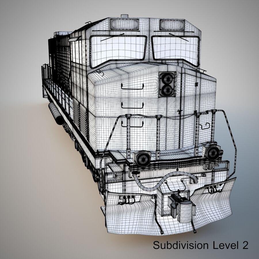 貨物列車エンジン royalty-free 3d model - Preview no. 14
