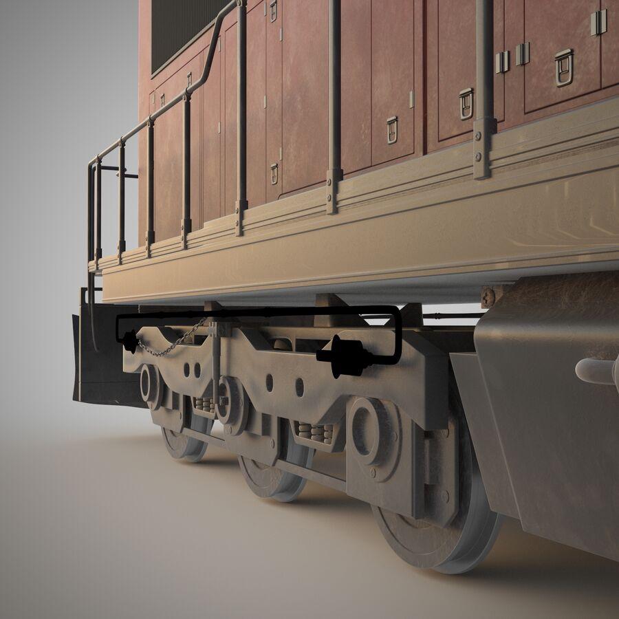 貨物列車エンジン royalty-free 3d model - Preview no. 6