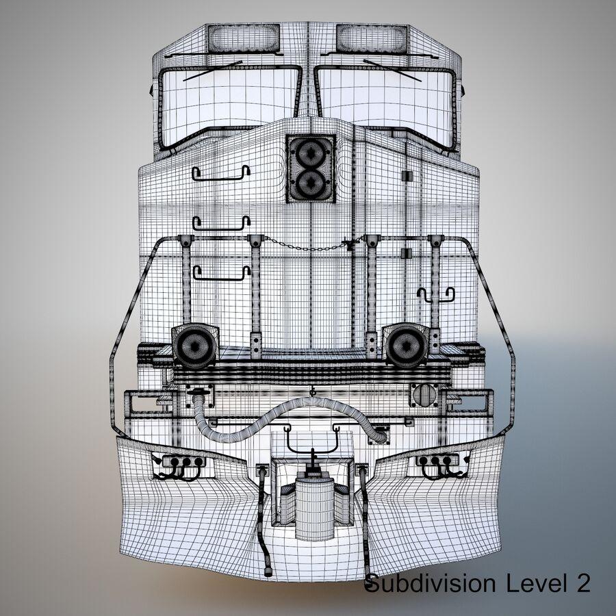 貨物列車エンジン royalty-free 3d model - Preview no. 17