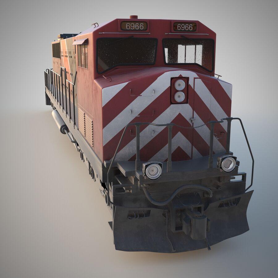 貨物列車エンジン royalty-free 3d model - Preview no. 2