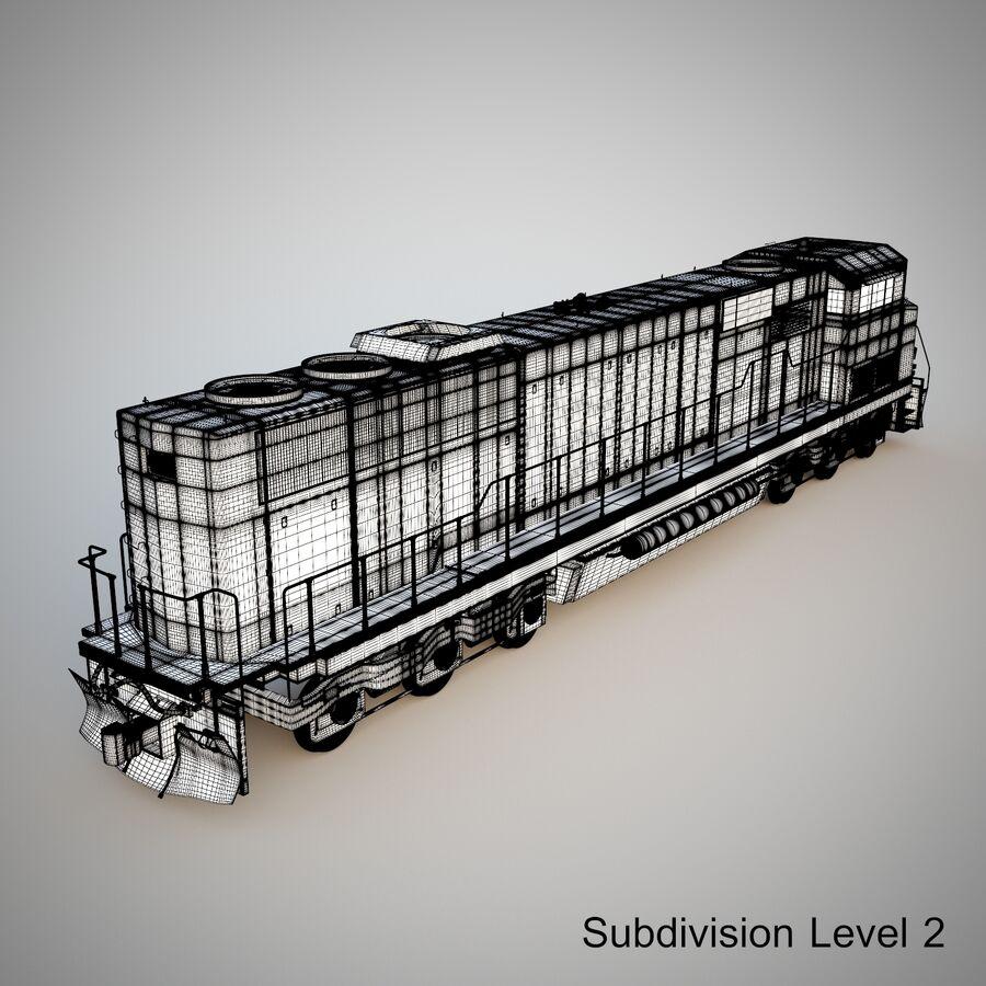 貨物列車エンジン royalty-free 3d model - Preview no. 16