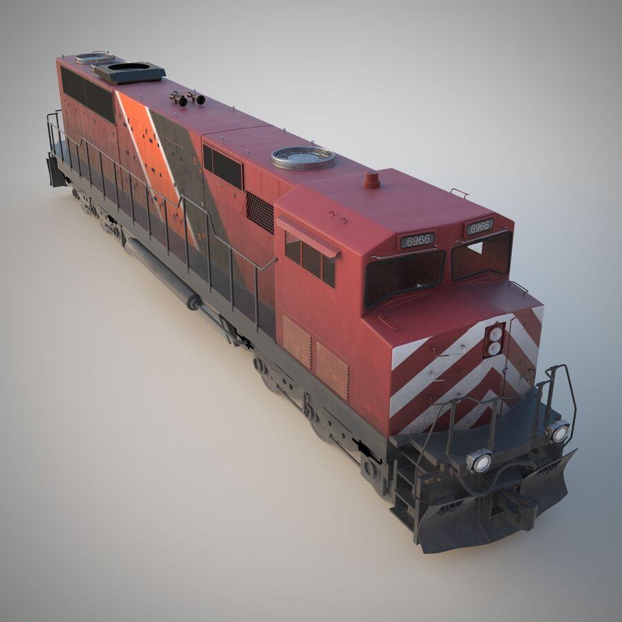 貨物列車エンジン royalty-free 3d model - Preview no. 3