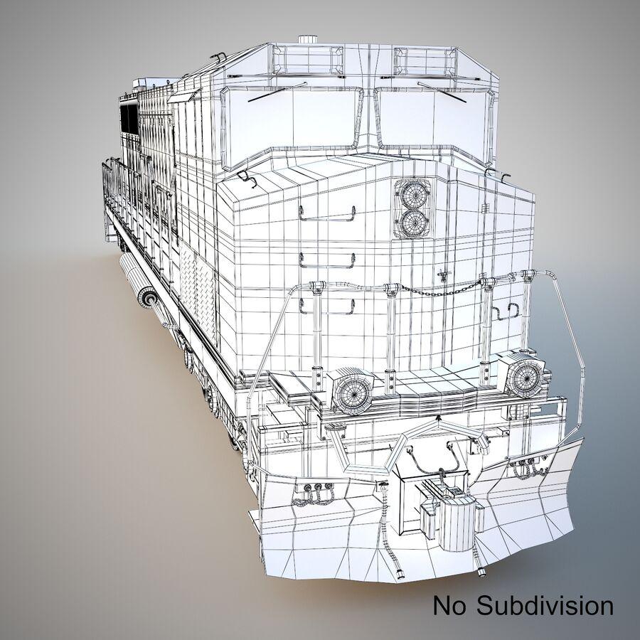 貨物列車エンジン royalty-free 3d model - Preview no. 8