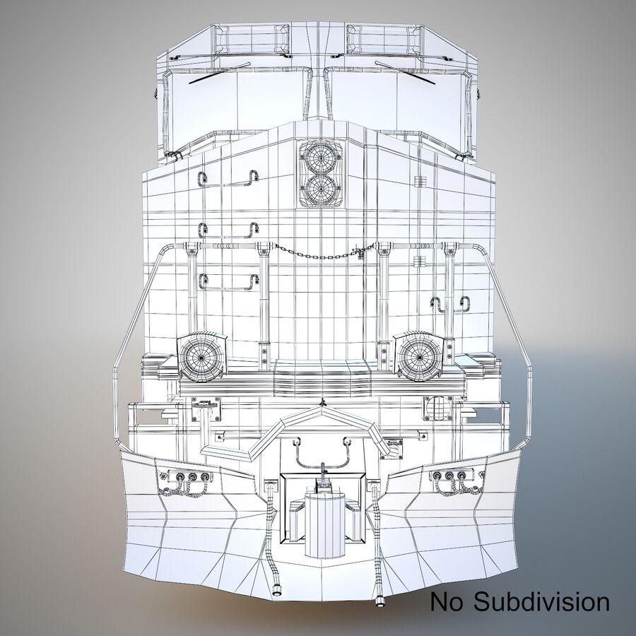 貨物列車エンジン royalty-free 3d model - Preview no. 11