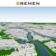 ブレーメンの街並みの完成 3d model