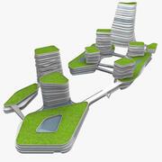 상업 빌딩 01 3d model