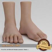 现实的脚 3d model