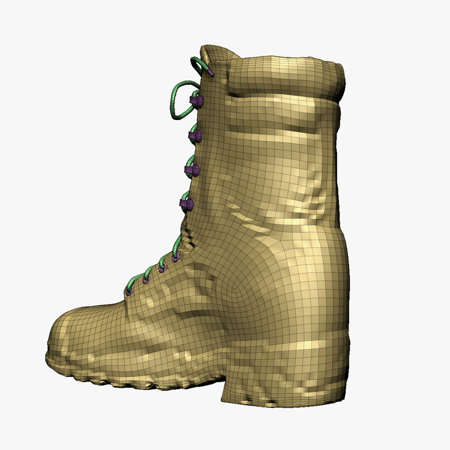 Army Boot Corcoran royalty-free 3d model - Preview no. 9