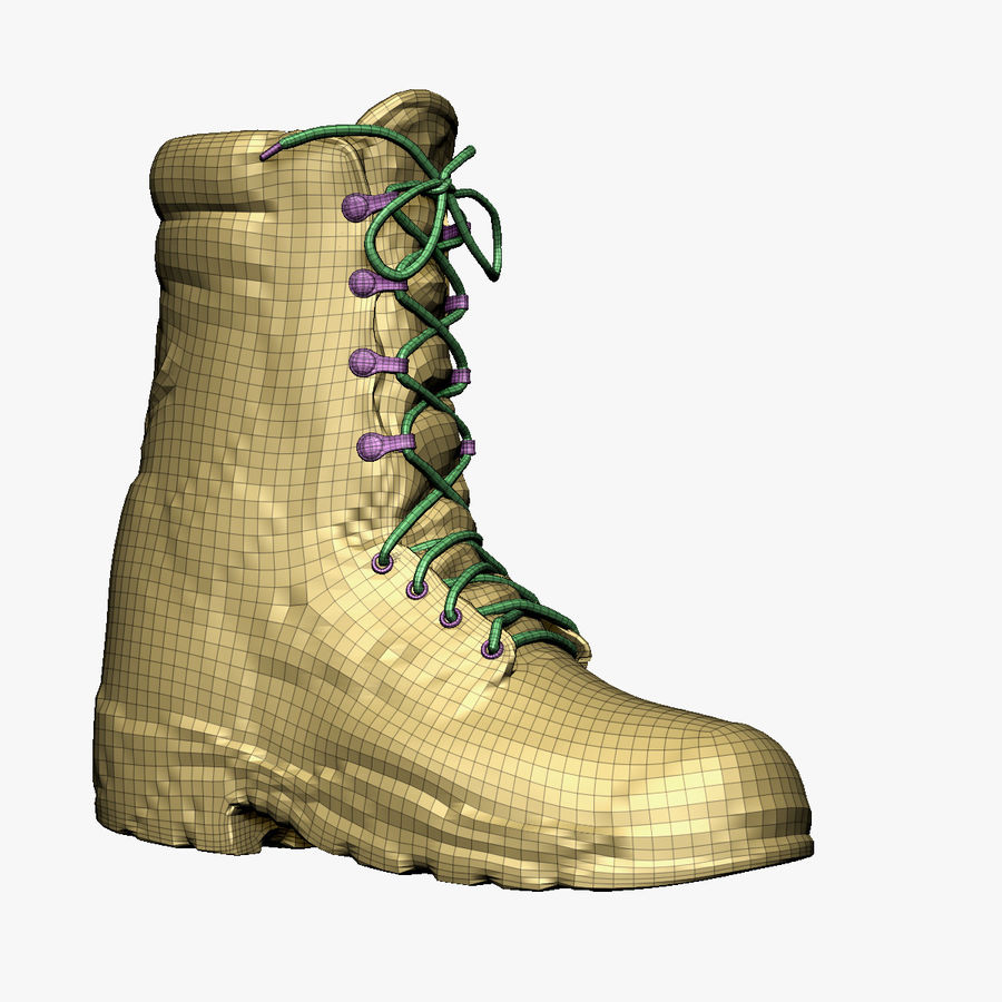 Army Boot Corcoran royalty-free 3d model - Preview no. 8