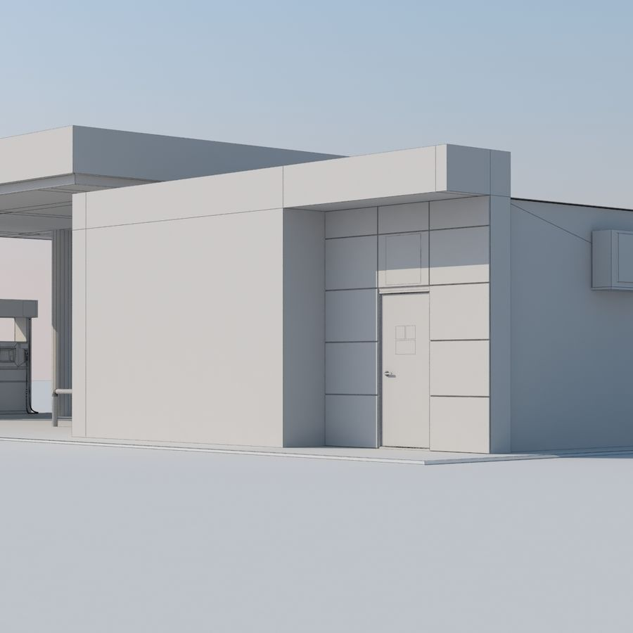 Gas station scene(3) royalty-free 3d model - Preview no. 12