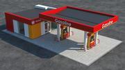 Scena stacji benzynowej (3) 3d model