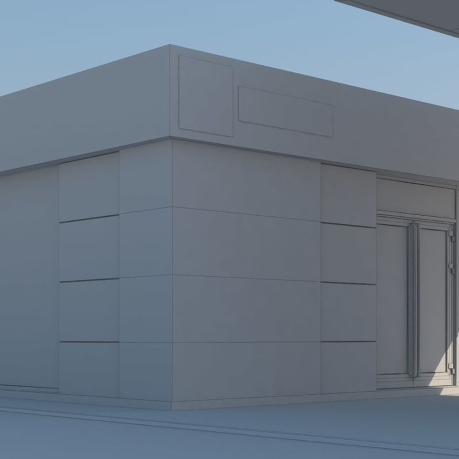 Gas station scene(3) royalty-free 3d model - Preview no. 8