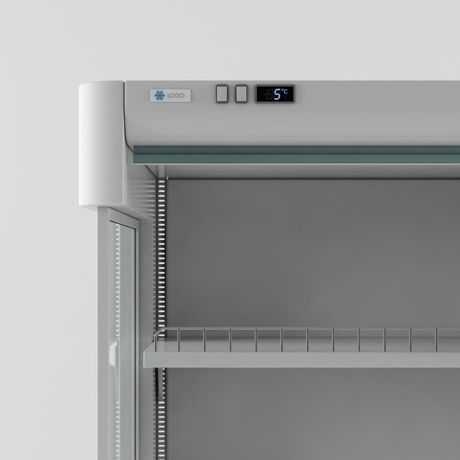 Shop Fridge royalty-free 3d model - Preview no. 2