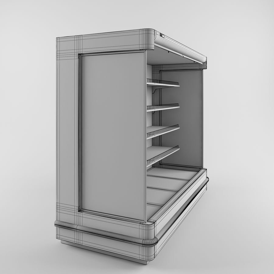 Shop Fridge royalty-free 3d model - Preview no. 4
