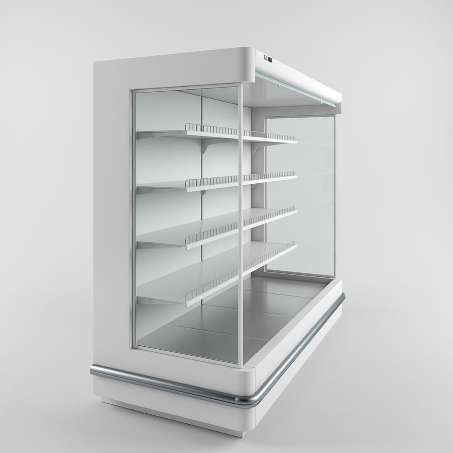 Shop Fridge royalty-free 3d model - Preview no. 3