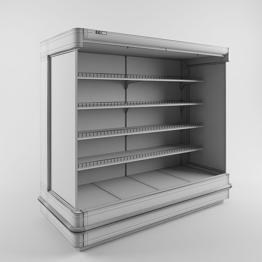 Shop Fridge royalty-free 3d model - Preview no. 5